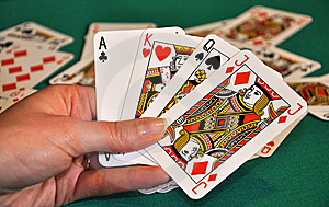 Cards In Hand Royalty Free Stock Images - Image: 8608089