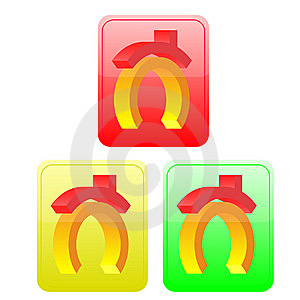 Three Volume Buttons With The House Image Royalty Free Stock Images - Image: 8608179