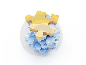 White Puzzle Stock Photo - Image: 8608240