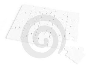 White Puzzle Royalty Free Stock Photo - Image: 8608255