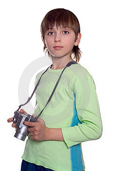 Boy With Camera Stock Photos - Image: 8608453