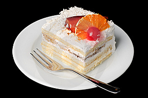 Creamy Tart With Fruits On Top Stock Photo - Image: 8608490