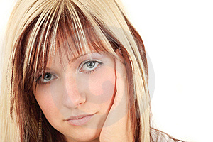 Romantic Blonde And Cute Girl Stock Image - Image: 8609251