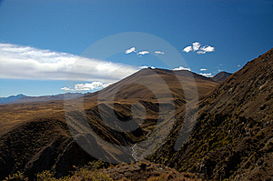 River Valley And Hills In The Mackenzie Country Royalty Free Stock Images - Image: 8609499