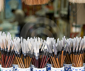 New Chinese Paint Brushes Stock Images - Image: 8609524