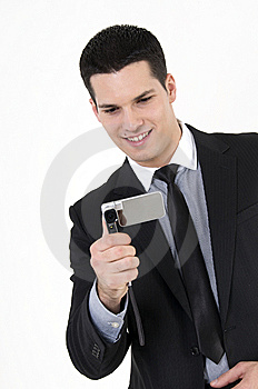 Businessman With Cellular Phone Stock Photography - Image: 8610102