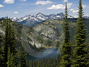 Alpine Lake And Mountains Royalty Free Stock Images - Image: 8610189