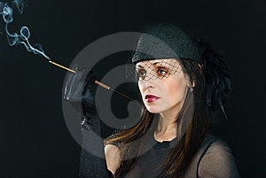 Smoke In Eyes Royalty Free Stock Photos - Image: 8610648