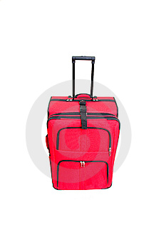 Red Suitcase On White Royalty Free Stock Photo - Image: 8611095