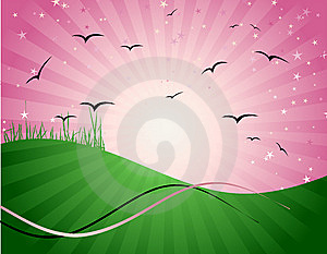 Magic Meadow, Illustration For Your Design Stock Images - Image: 8611244