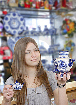 Young Woman In Shop Royalty Free Stock Images - Image: 8612069