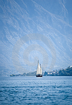 Distant Yacht Stock Photo - Image: 8612310