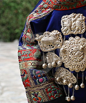 Chinese National Minority Clothing Royalty Free Stock Image - Image: 8612916