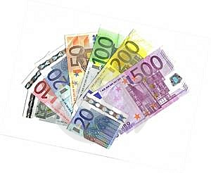 From 5 To 500 Euro Range Royalty Free Stock Image - Image: 8613006