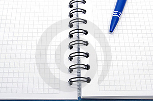 Open Notebook With Empty Sheets Stock Images - Image: 8613324