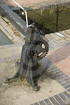 Cog Wheel Gears On Canal Royalty Free Stock Photo - Image: 8613585
