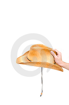 Hand Holding Hat Stock Photo - Image: 8613590