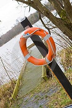 Jetty Life Buoy Stock Photos - Image: 8613633