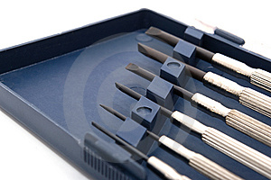 Set Of Precision Screwdrivers Royalty Free Stock Photos - Image: 8613638