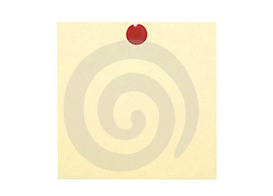 Yellow Note With Red Pin Stock Photos - Image: 8613673