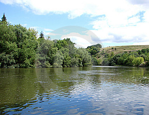 Landscape Of The Current River Royalty Free Stock Photography - Image: 8613727