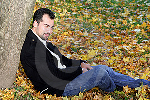 Man's Autumn Portrait Stock Photo - Image: 8613870