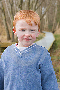 Young Boy Standing On Path Stock Photos - Image: 8613893