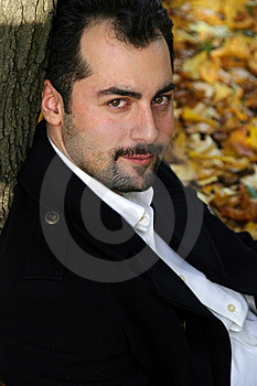 Man's Autumn Portrait Stock Images - Image: 8613924