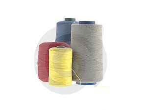 Colorful Threads Isolated On White Stock Image - Image: 8614181