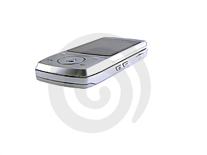 Silver Mobile Phone Royalty Free Stock Image - Image: 8614196