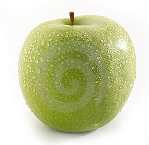 Wet Green Apple Stock Photo - Image: 8614210