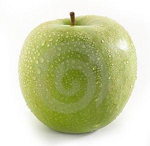 Wet Green Apple Stock Photo - Image: 8614210