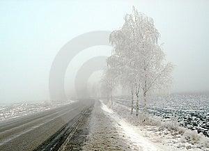 Paesaggio Del Paese In Gelo E Nebbia Immagini Stock - Immagine: 8614284