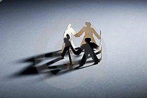 Paper Men Stock Photo - Image: 8614290