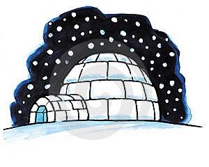 Snow Igloo Royalty Free Stock Photos - Image: 8614438