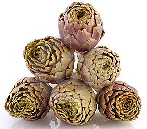 Artichokes On White Background Stock Image - Image: 8614481