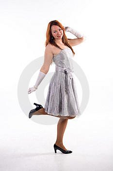 Young Girl And White Gloves Royalty Free Stock Photography - Image: 8614607