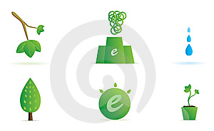 Set Of Green Ecology Icons. Royalty Free Stock Image - Image: 8614616