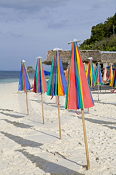 Umbrellas On The Beach Royalty Free Stock Photo - Image: 8614785