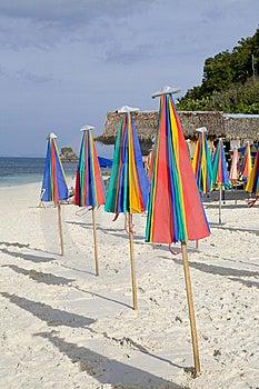 Paraguas En La Playa Foto de archivo libre de regalías - Imagen: 8614785