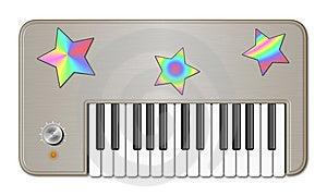 Retro Childish Keyboard Royalty Free Stock Image - Image: 8614796