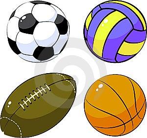 Vier Ballen Stock Fotografie - Afbeelding: 8614872