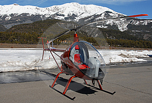 Light Helicopter Royalty Free Stock Image - Image: 8614886