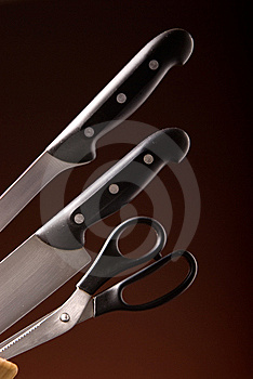 Kitchen Knife Set Stock Photos - Image: 8614993