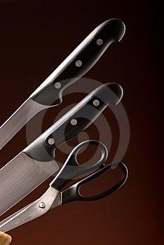Kitchen Knife Set Stock Photos