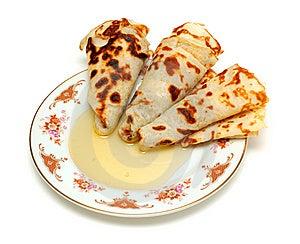 Pancakes With Honey Stock Photography - Image: 8615412