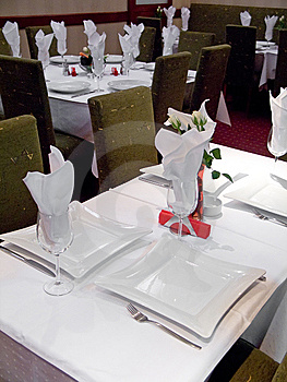 Restaurant Table Royalty Free Stock Image - Image: 8615526