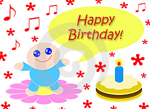 Happy Happy Birthday Royalty Free Stock Photos - Image: 8615568
