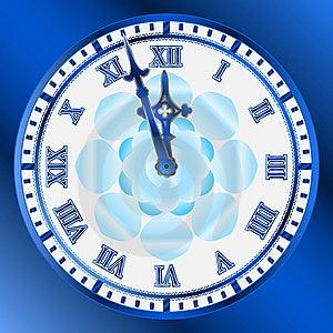 Vector Vintage Clocks Face Stock Image - Image: 8615791