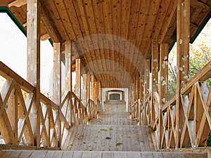 Covered Wooden Passage Royalty Free Stock Photography - Image: 8615797